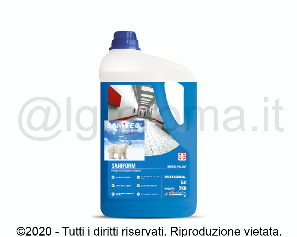 DETERGENTE IGIENIZZANTE SUPERFICI DURE SANIFORM 5LT HACCP DISPONIBILE